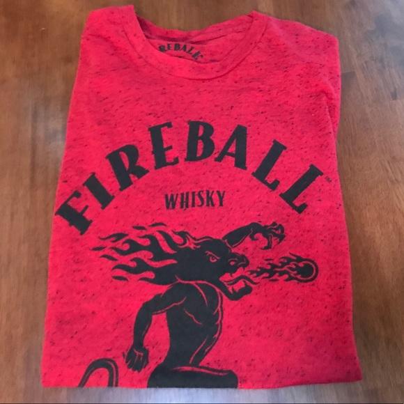 Fireball Whiskey Red Tee Shirt Poshmark